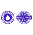 natural water grunge stamp seals vector image vector image