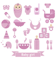 Newborn baby icons set vector image
