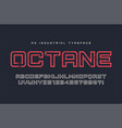 Octane display typeface font alphabet