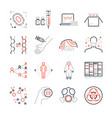 pandemic and outbreak plague line icons set vector image vector image