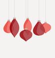 pink christmas balls vector image
