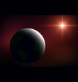 realistic space background vector image vector image