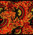russian ethnic khokhloma seamless pattern vector image