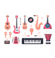 set musical instruments vector image vector image