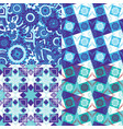 set patterns with oriental decor vector image vector image