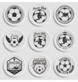 set soccer football vector image