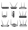 simple router Icons set design template vector image