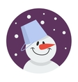 snowman flat icon vector image vector image