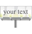 Street billboard vector image vector image