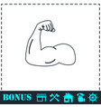 strong icon flat vector image vector image