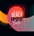 stylish black friday vibrant sale banner vector image vector image