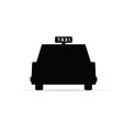taxi black vector image