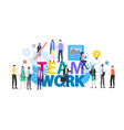 teamwork cartoon people man woman office worker vector image vector image