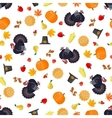 Thanksgiving seamless pattern in flat style vector image