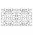 Vintage baroque geometry floral ornament vector image vector image