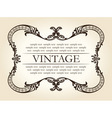 vintage brown abstract frame ornament vector image vector image
