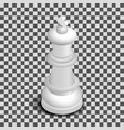 white king chess piece isometric vector image vector image