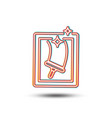 window cleaning line icon washing service vector image vector image