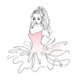 Sketch of ballerina Expressive performance girl vector image