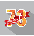 73rd Years Anniversary Celebration Design vector image vector image
