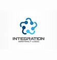 Abstract business company logo social media