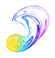 abstract rainbow blot blur background hologram vector image vector image