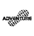 adventure template logo design template vector image