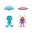 alien icon spaceship vector image vector image
