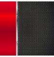 Background of polished red metal and black mesh vector image vector image