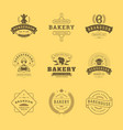 bakery logos and badges design templates set vector image vector image