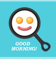breakfast and good morning vector image