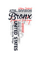 Bronx sport typography for t-shirt