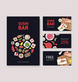 bundle flyers web banners or coupons vector image