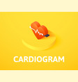 cardiogram isometric icon isolated on color vector image
