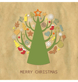 Christmas Vintage Composition vector image vector image