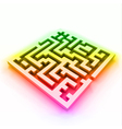 colorful maze labyrinth vector image vector image