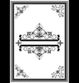 Corners ornaments and banners vector image vector image