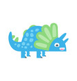 cute funny colorful dinosaur prehistoric animal vector image vector image