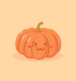 cute pumpkin vegetable cartoon vector image vector image