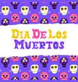 dia los muertos postcard design vector image vector image