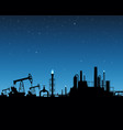 extraction of gas and oil industrial plant vector image