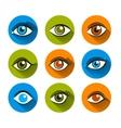 Eyes Icons Flat Set vector image