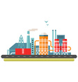Factory concept Flat style Industrial landscape vector image vector image