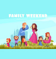 family weekend colored background vector image