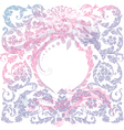floral luxury medieval pattern with transparent vector image vector image