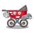 gamer baby sitting in a baby stroller cartoon vector image