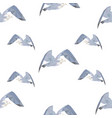 geometric triangular seagulls seamless pattern vector image