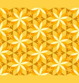 geometric vanilla flower seamless pattern vector image vector image