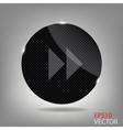 Glass button media icon vector image vector image