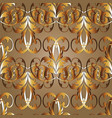 gold baroque seamless pattern antique vector image